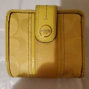 Coach good condition yellow wallet